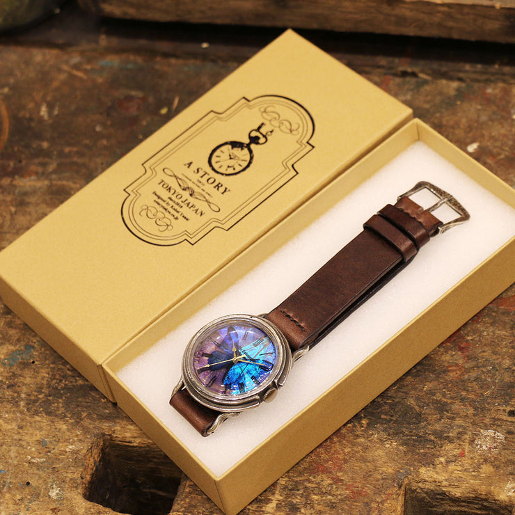 The Real Morpho Butterfly Wing Watch Size L (Silver) | Original Handmade Watches from Tokyo 匠人手工製作 穆爾佛蝶 個性手錶