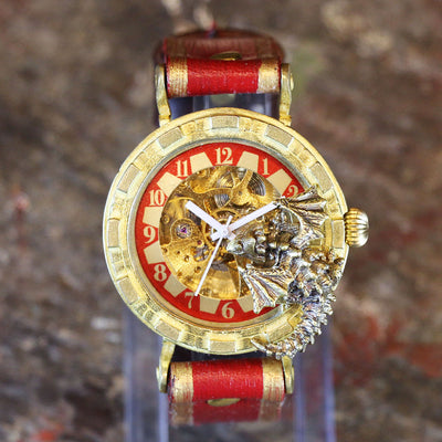 "Dragon's Wristwatch ""Curious Time Dragon"" (Red) 