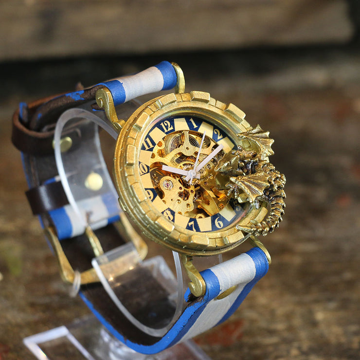 "Dragon's Wristwatch ""Curious Dragon"" (Blue) 