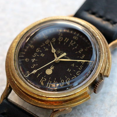 Vintage Military Watch (Black) | Unique Retro Original Handmade Watches from Japan