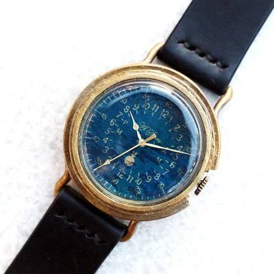Vintage Military Watch (Blue) | Unique Retro Original Handmade Watches from Japan