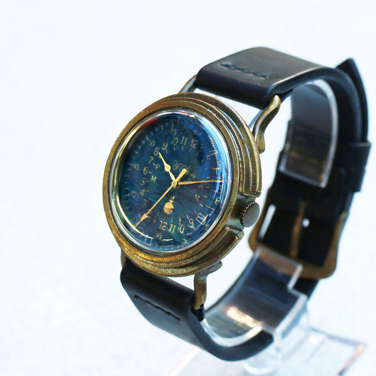 A Story | Vintage Military Watch (Blue) | Unique Retro Original Handmade Watches from Japan