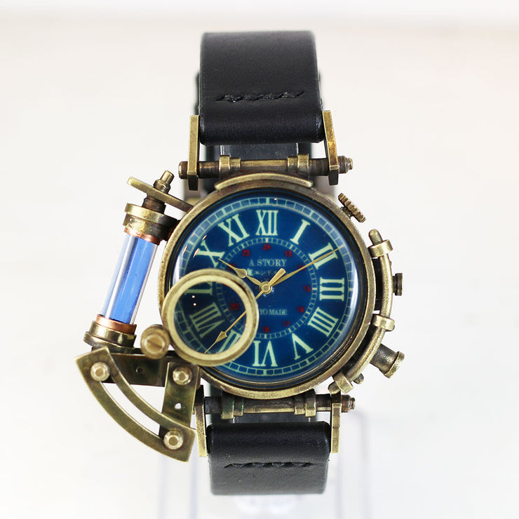 Grow Face (Blue) | Steampunk Watch Made in Tokyo 蒸汽朋克表 原创设计品牌