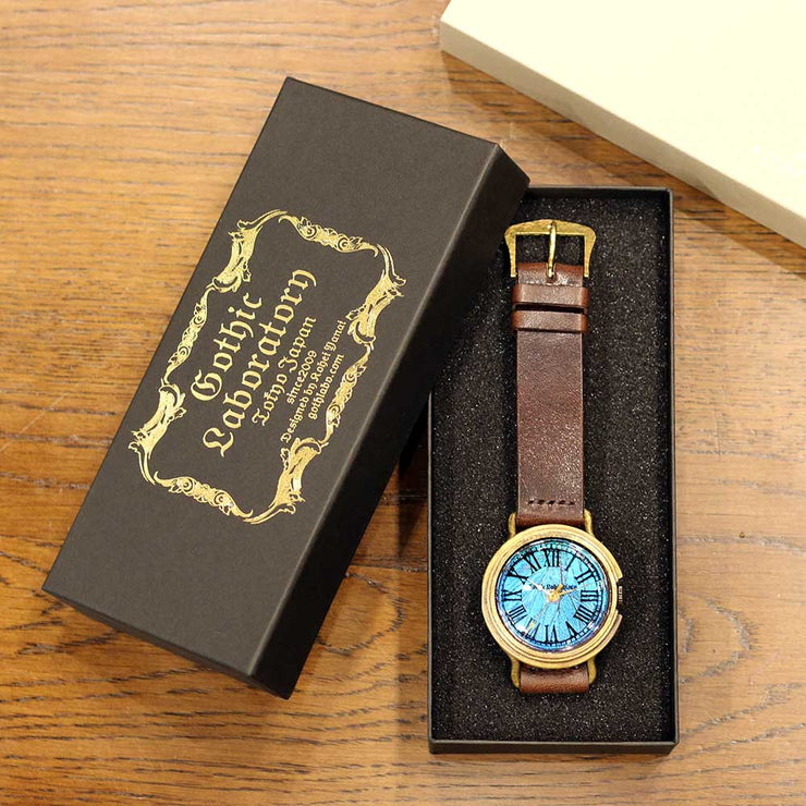 The Real Morpho Butterfly Wing Watch Roman numerals | Gothic Laboratory 匠人手工製作 穆爾佛蝶 個性手錶