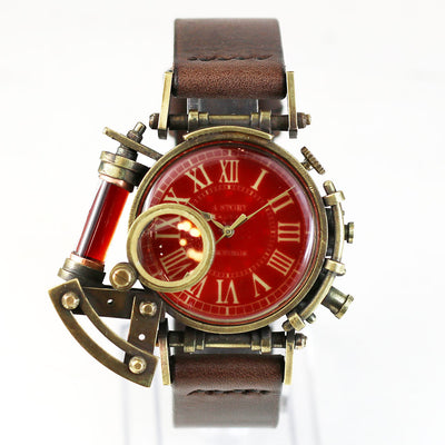Grow Face (Red) | Steampunk Watch Made in Tokyo 蒸汽朋克表 原创设计品牌