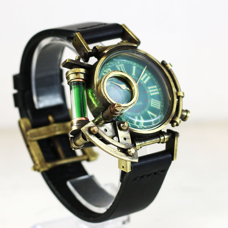 Grow Face (Green) | Steampunk Watch Made in Tokyo | 蒸汽朋克表 原创设计品牌