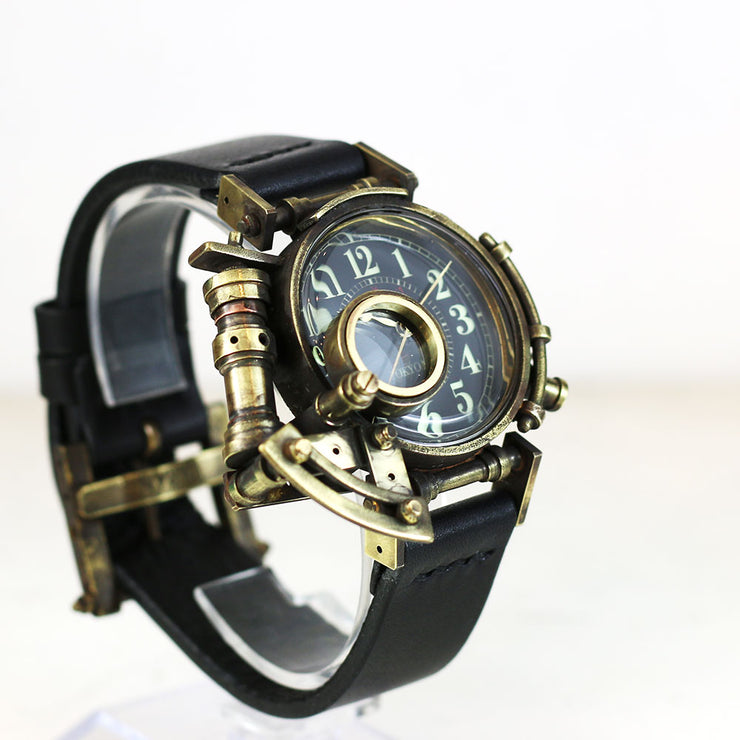 Grow Face (Black) | Steampunk Watch Made in Tokyo 蒸汽朋克表 原创设计品牌