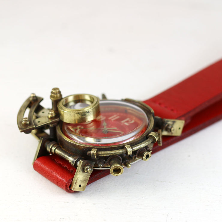 Steampunk watch made in Tokyo Grow Face (Red) 蒸汽朋克表 原创设计品牌