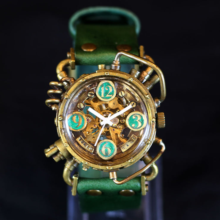 CHRONO MACHINE Mechanical Steampunk Watch (Green) | Unique Watches Made in Japan 個性手錶