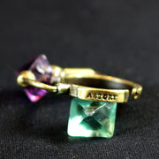 GENSO | Fluorite Ring (Brass) | Original Handmade Accessories from Japan