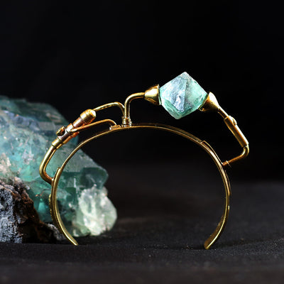 GENSO | Fluorite Bracelet (Brass) | Original Handmade Accessories from Japan