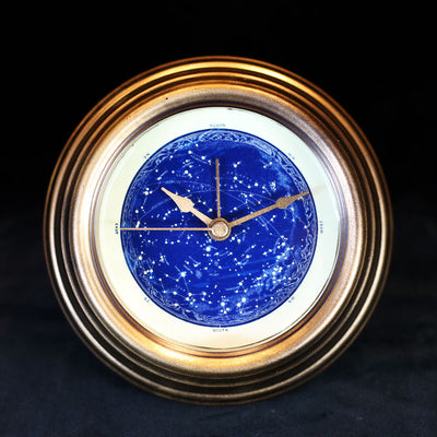 GENSO | Planisphere Starry Sky Clock (Phosphorescent Face) | Original Handmade Clocks from Japan