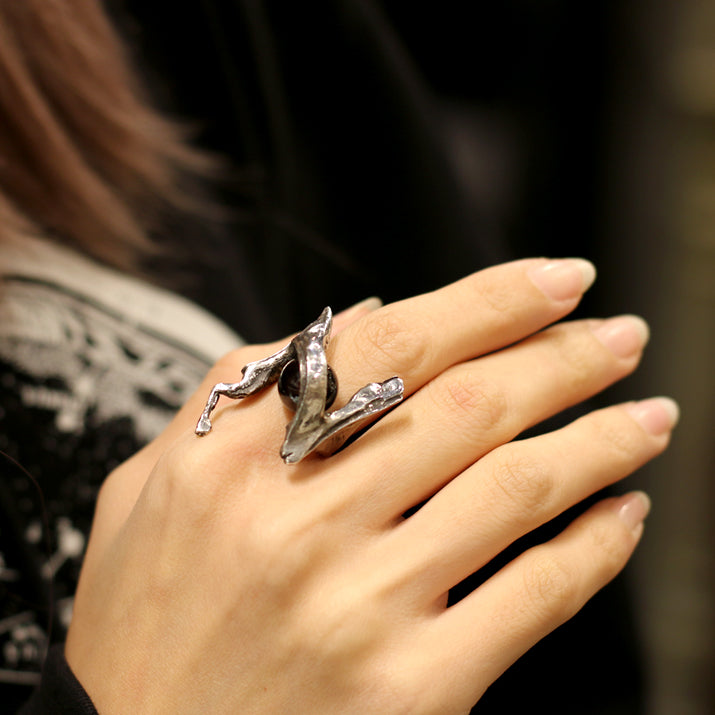 A STORY TOKYO x Nine Universe Collaboration N Ring Garnet silver925