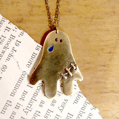 "UKENMUKEN | OBAKE Ghost necklace ""tear"" 