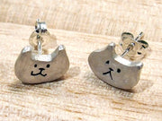 UKENMUKEN | Cat earrings silver | Japanese designer handmade jewelry