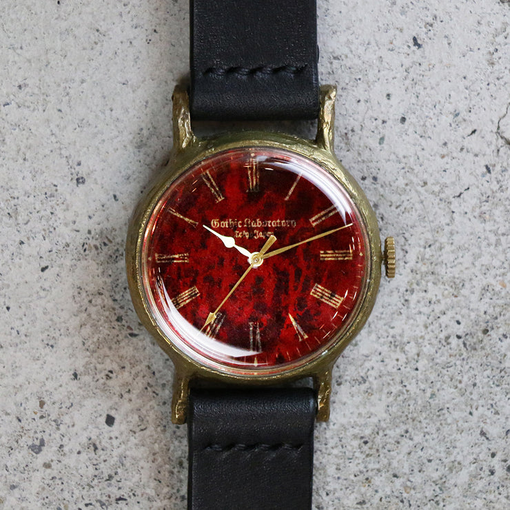 Gothic Laboratory | Classic Wristwatch Blood (Red) | Original Handmade Watches from Japan