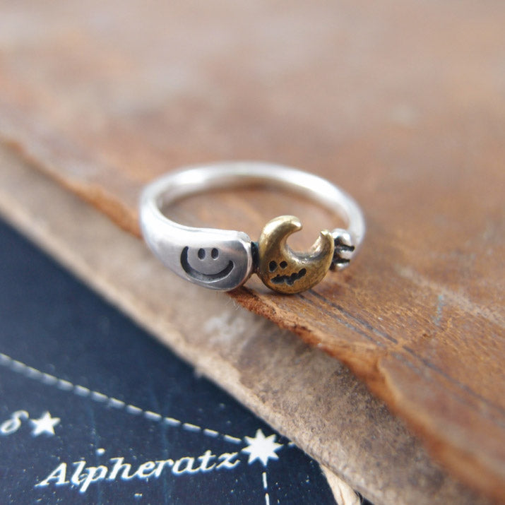 UKENMUKEN | I brought it for you! OBAKE ghost ring Moon | Japanese Designer Handmade Jewelry