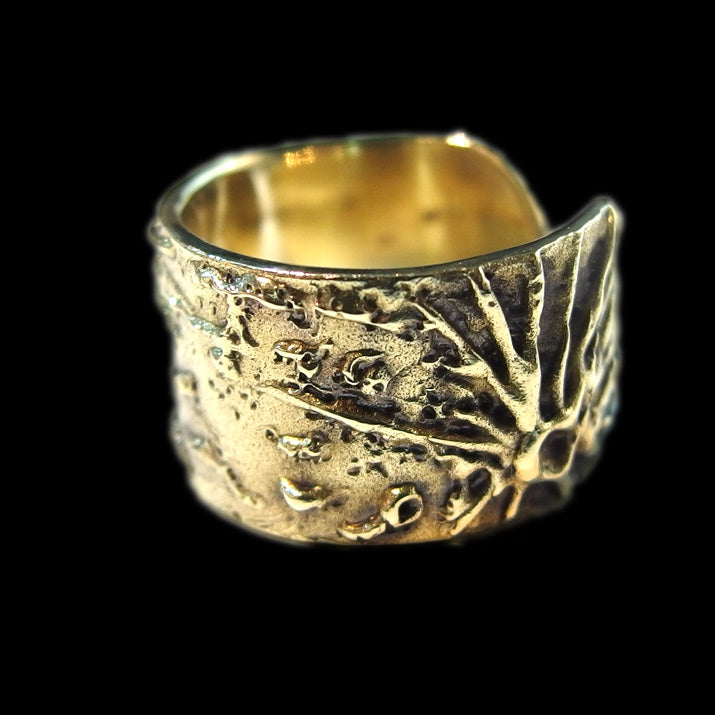 GENSO | Moon Surface Ring (Brass) | 星空 月亮戒指 黄铜