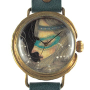 "Chrono Canvas Art Watch | ""Masked Lady's Side Profile"" by Yuka Sakuma × A Story Tokyo"