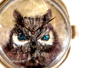 "Chrono Canvas Art Watch | ""The Moon and Owl"" by Yuka Sakuma × A Story Tokyo"