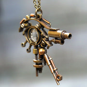 "Denki Endorphin | Steampunk Brass Pendant ""Eye of Horus"" 