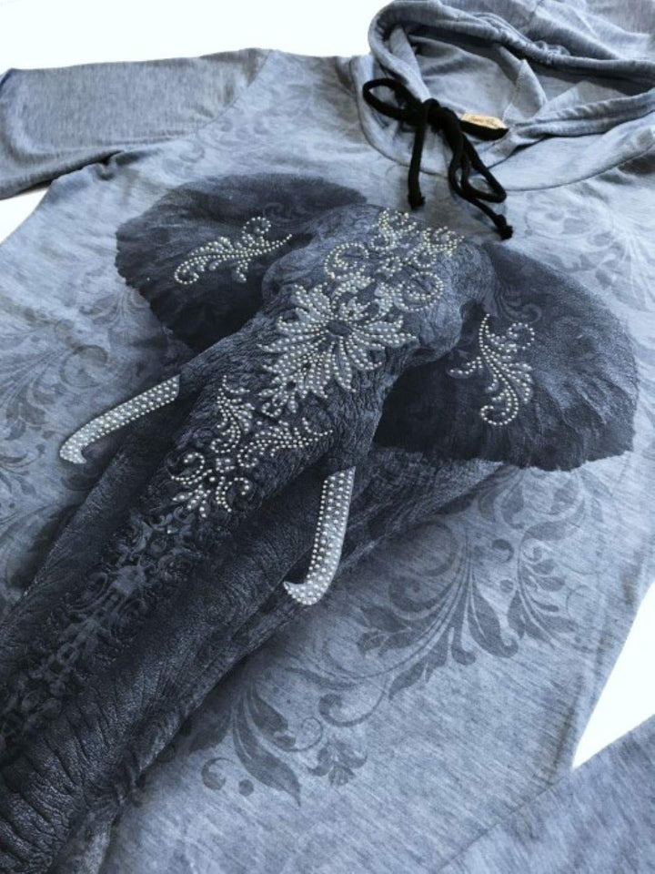Elephant Hooded Sweatshirt