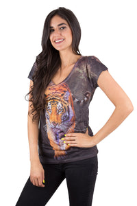 Bengal Tiger V-Neck  T Shirt
