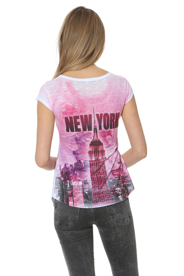 Sweet Gisele Womens Graphic Empire State Building T Shirt
