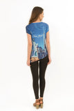 NYC Lady Liberty Bling-Embellished Half-Tunic - Sweet Gisele