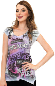 Chicago Tunic Purple T-Shirt