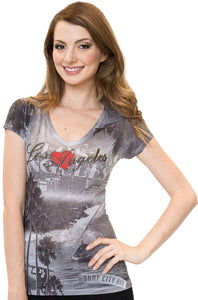 Los Angeles V-Neck T-Shirt
