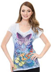 Butterfly V-Neck T-Shirt