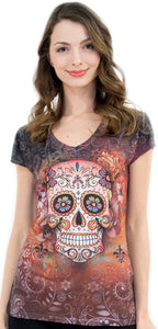 Sugar Skull V-Neck T-Shirt