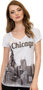 Chicago V-Neck T-Shirt