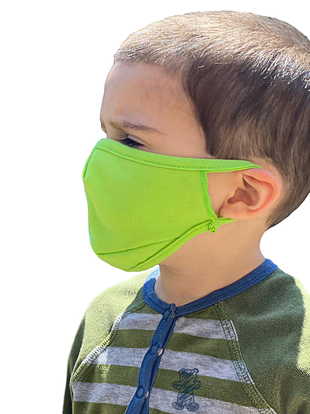 Green - Kids Face Mask with Filter Pocket/ Mouth Mask Washable/ Dust Mask/ Reusable Mask/ Travel Mask