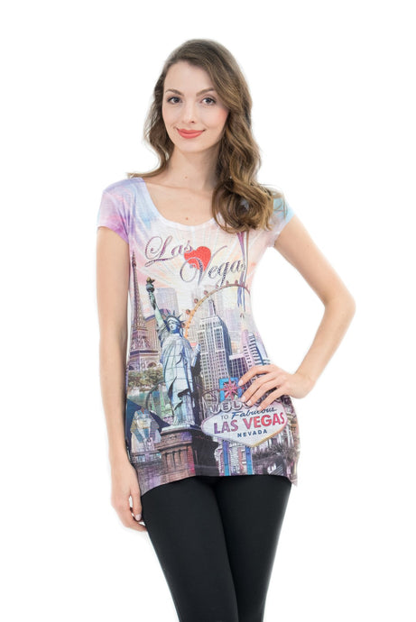 Heart of Las Vegas Bling-Embellished Tunic - Sweet Gisele