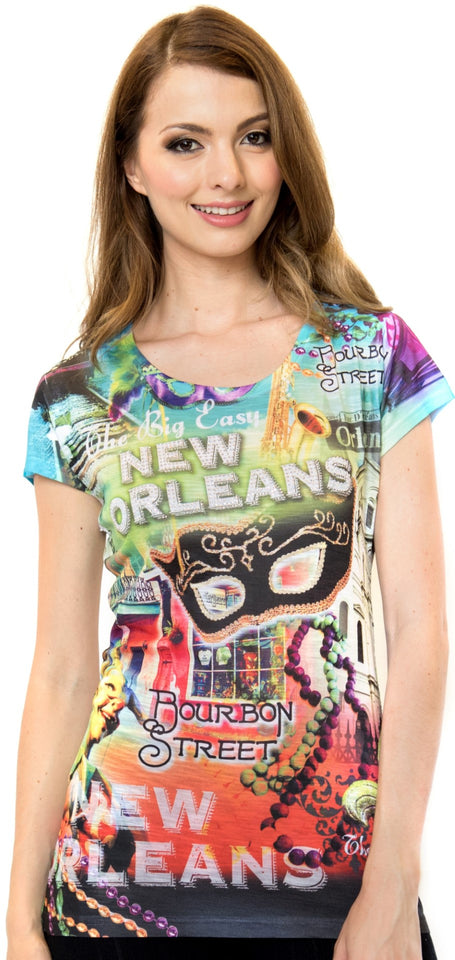 New Orleans Short Sleeved V-Neck