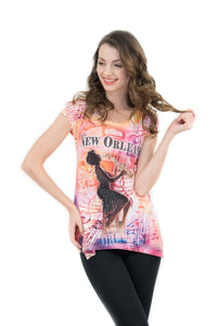 New Orleans Retro Jazz Bling-Embellished Tunic - Sweet Gisele
