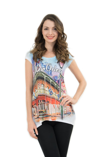 New Orleans Vintage Bling-Embellished Tunic - Sweet Gisele