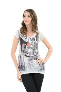 Heart of NYC Bling-Embellished Tunic - Sweet Gisele
