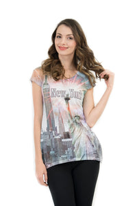 NYC Skyline Bling-Embellished Tunic - Sweet Gisele