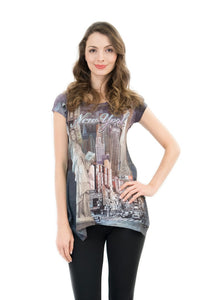 City That Never Sleeps NYC Bling-Embellished Tunic - Sweet Gisele