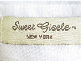 Manhattan NYC Bling-Embellished V-Neck T-Shirt - Sweet Gisele