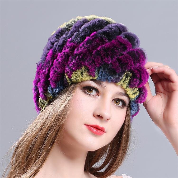 Ladies Knitted Fur Hat