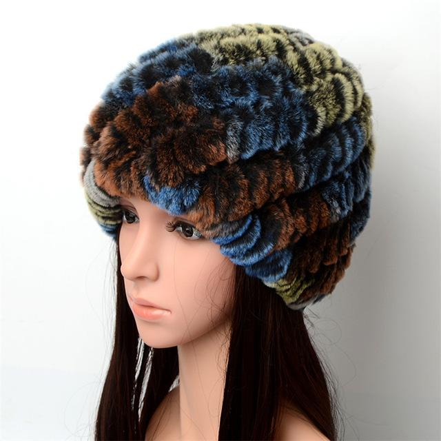 Ladies Knitted Fur Hat - Bunny Choice