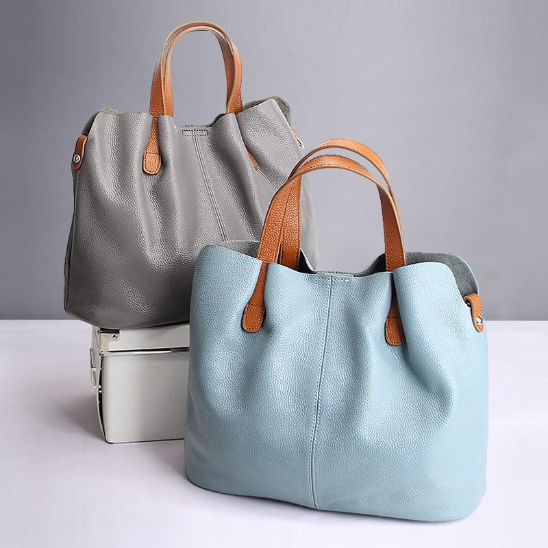 Women Handbag Genuine Leather Tote Shoulder Bag