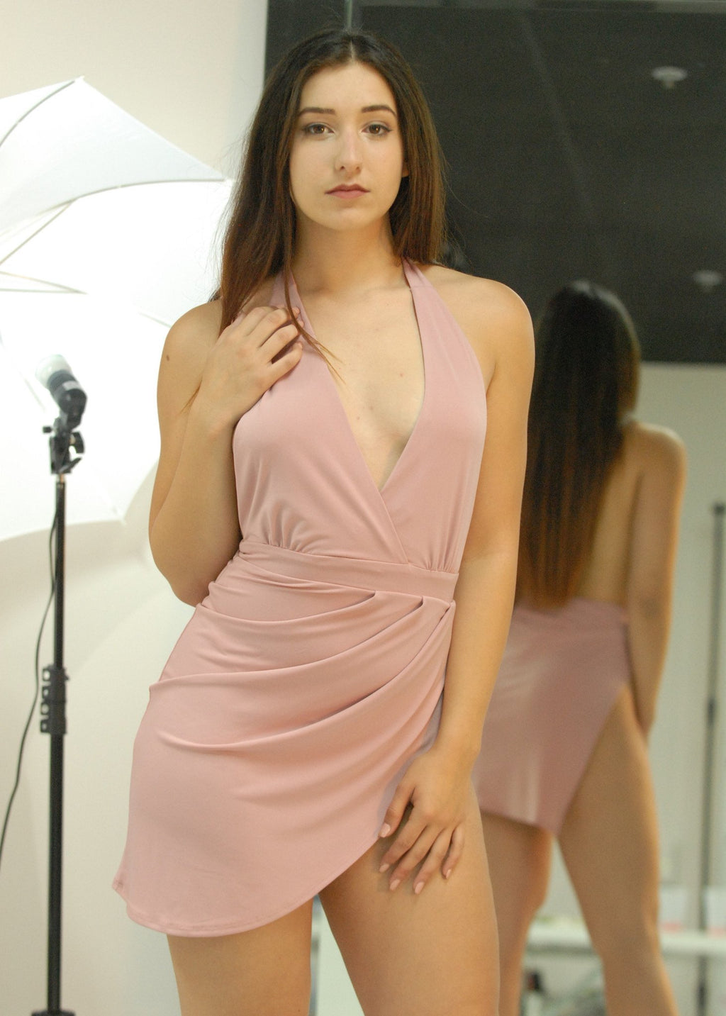 Soft Pink Slit Dress