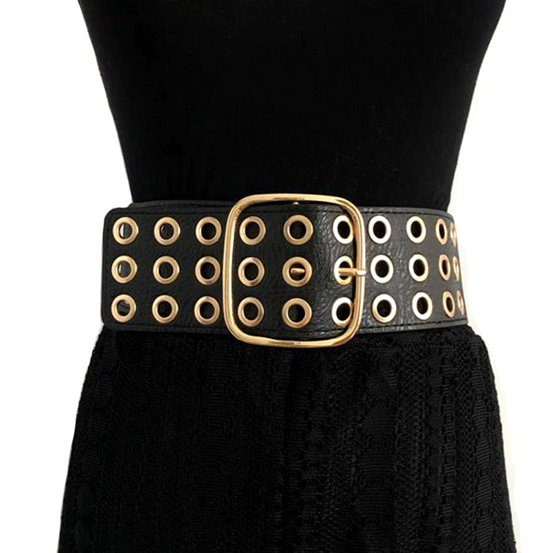 Fashion Classic Metal Pin Buckle Wide belt