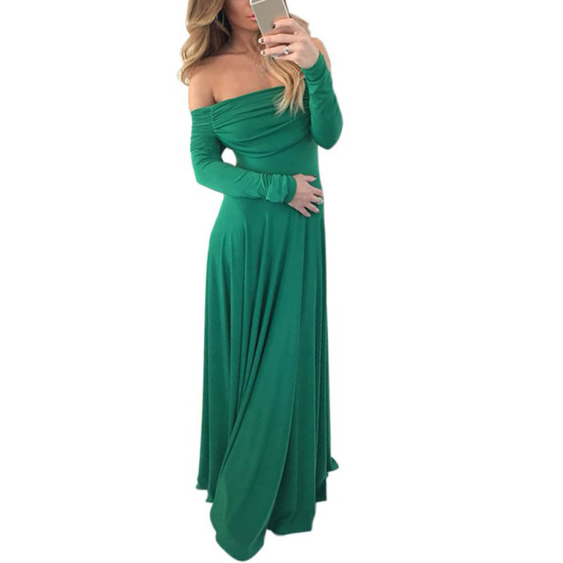 Off Shoulder Long Sleeve Party Dress