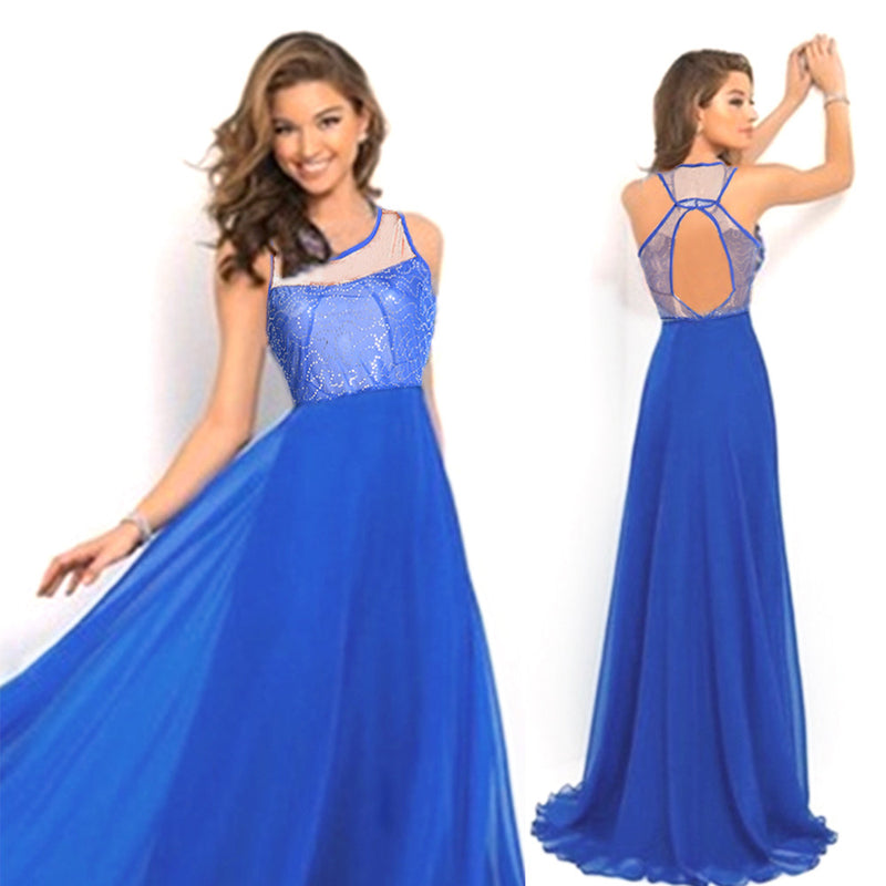 Elegant High Waist Floor Length Party Dress